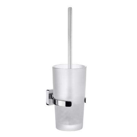 Smedbo Ice Glass  Wall Mounted Toilet Brush
